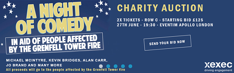 Charity Auction Banner - A Night of Comedy at Eventim Apollo