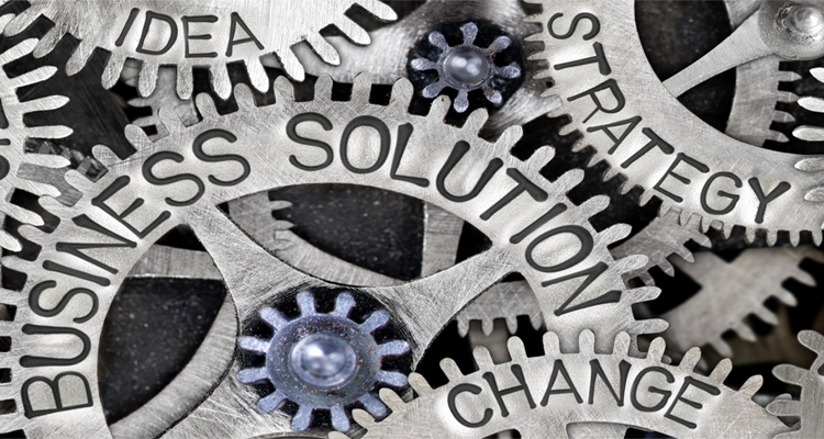 Clogs in a business: change, business solution, strategy, idea