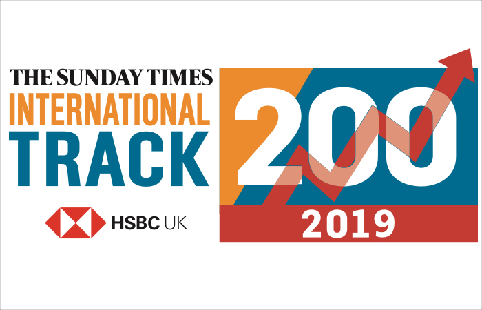 Xexec features in Sunday Times HSBC International Track 200 Top 100 2019