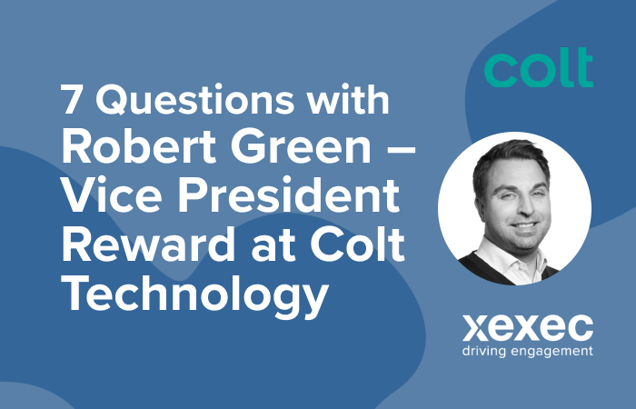 seven questions with Rob Green VP Reward at Colt Technology