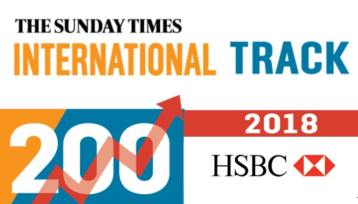 Xexec features in Sunday Times HSBC International Track 200 Top 100 2018